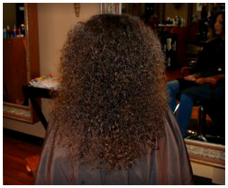 Brazilian Blowout before at LL Hair Studio salon in Houston, TX 77095