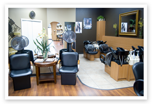 LL Hair Studio Salon shampoo area in Houston, TX